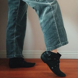 Aldo studded black booties